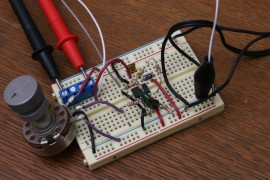 Basic Sawtooth Oscillator Breadboarded